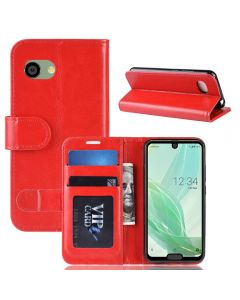 Sharp R2 Compact SH-M09 Flip Folio Leather Wallet Case with ID and Credit Card Pockets