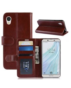 Sharp sense 2 SH-01L SHV43 Flip Folio Leather Wallet Case with ID and Credit Card Pockets