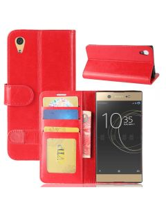 Sony XA1 Flip Folio Leather Wallet Case with ID and Credit Card Pockets
