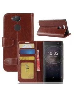 Sony XA2 Flip Folio Leather Wallet Case with ID and Credit Card Pockets