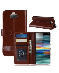 Sony Xperia 10 (XA3) Flip Folio Leather Wallet Case with ID and Credit Card Pockets