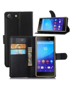 Sony Xperia M5 Phone Case Wallet Flip Cover Folio Leather Case Stand Display Card Pocket