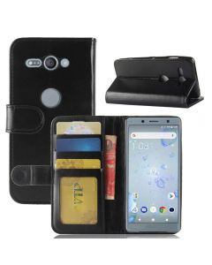 Sony XZ2 Compact Flip Folio Leather Wallet Case with ID and Credit Card Pockets