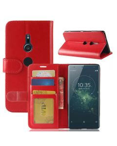 Sony XZ2 Flip Folio Leather Wallet Case with ID and Credit Card Pockets