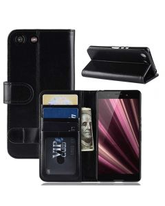 Sony XZ4 Compact Flip Folio Leather Wallet Case with ID and Credit Card Pockets
