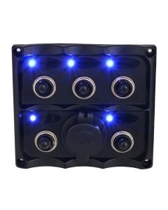 Toggle switch Panel with blue indicator / 12V Cigar lighter power socket