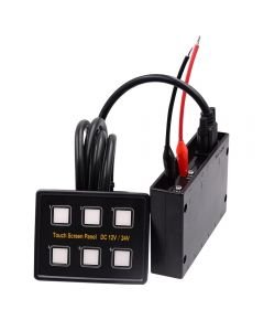 Touch Switch Panel with Circuit Control Box & VGA Cable for Car Truck Boat Yacht Marine