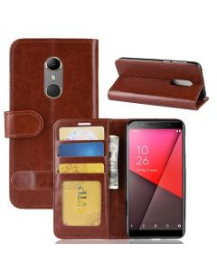 Vodafone N9 Flip Folio Leather Wallet Case with ID and Credit Card Pockets
