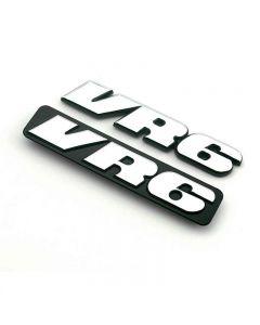 VR6 3D Emblem Car Grille Badge Sticker for Polo Golf 2 Corrado MK2