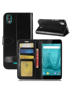 Wiko lenny 4 Plus Flip Folio Leather Wallet Case with ID and Credit Card Pockets