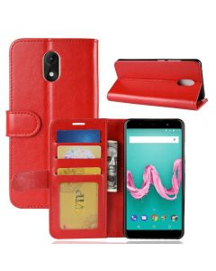Wiko lenny 5 Flip Folio Leather Wallet Case with ID and Credit Card Pockets
