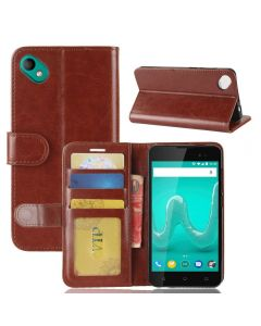 Wiko sunny 2 Plus Flip Folio Leather Wallet Case with ID and Credit Card Pockets