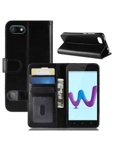 Wiko sunny 3 Flip Folio Leather Wallet Case with ID and Credit Card Pockets