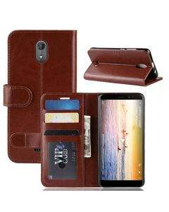 Wiko sunny 3 Plus Flip Folio Leather Wallet Case with ID and Credit Card Pockets