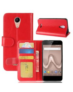 Wiko tommy 2 Flip Folio Leather Wallet Case with ID and Credit Card Pockets
