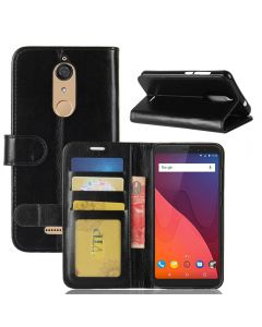 Wiko View Flip Folio Leather Wallet Case with ID and Credit Card Pockets