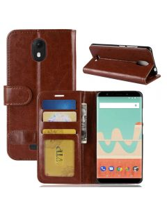 Wiko View go Flip Folio Leather Wallet Case with ID and Credit Card Pockets