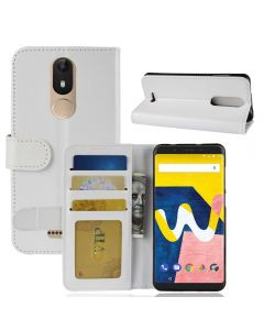 Wiko View Lite Flip Folio Leather Wallet Case with ID and Credit Card Pockets