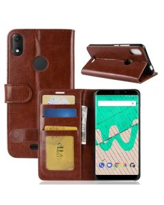 Wiko View max Flip Folio Leather Wallet Case with ID and Credit Card Pockets