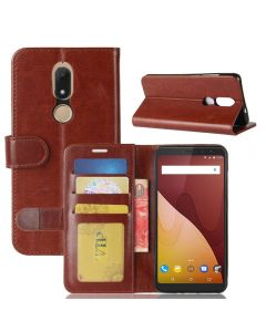 Wiko View prime Flip Folio Leather Wallet Case with ID and Credit Card Pockets