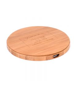 Wireless Charger Bamboo Qi Charging Pad Ultra Slim Circle