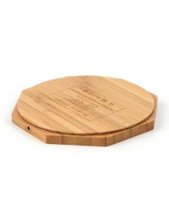 Wireless Charger Bamboo Qi Charging Pad Ultra Slim Octangle