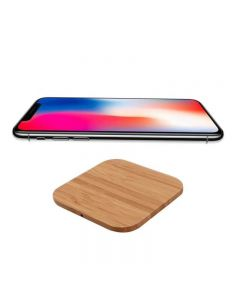 Wireless Charger Bamboo Qi Charging Pad Ultra Slim Square