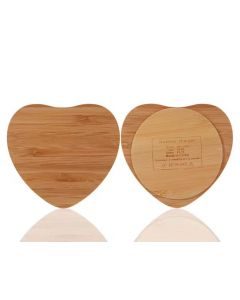 Wireless Charger Bamboo Qi Charging Pad Ultra Slim Triangle Heart shape