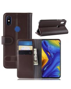Xiaomi Mix 3 Phone Case Wallet Flip Cover Folio Genuine Leather Case Stand Display Card Pocket