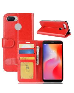 Xiaomi Redmi 6 Flip Folio Leather Wallet Case with ID and Credit Card Pockets