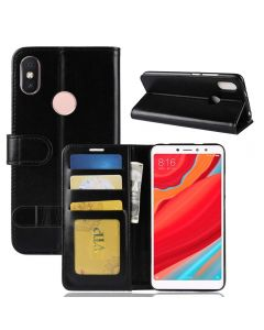 Xiaomi Redmi S2 Flip Folio Leather Wallet Case with ID and Credit Card Pockets