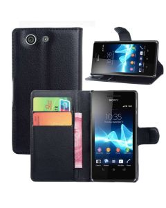 Xperia Z3 Mini Phone Case Wallet Flip Cover Folio Leather Case Stand Display Card Pocket