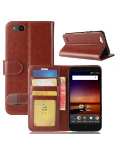 ZTE Tempo X N9137 Flip Folio Leather Wallet Case with ID and Credit Card Pockets
