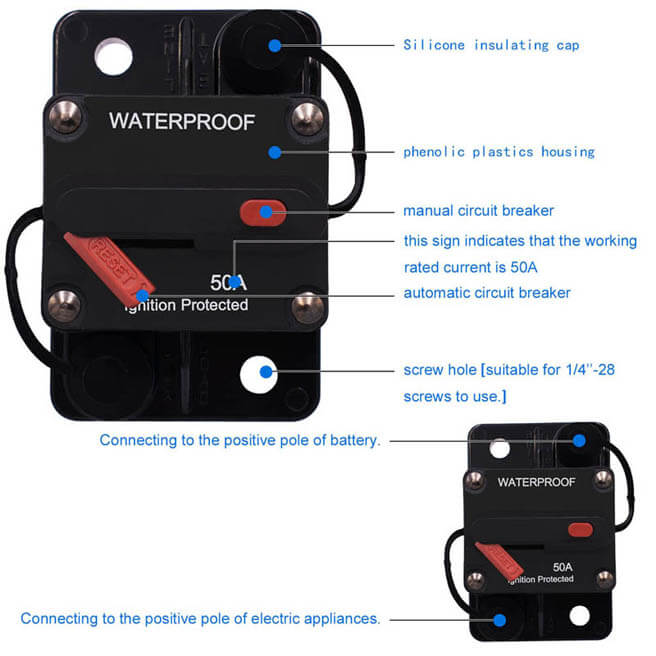 Weatherproof Circuit Breaker With Switch Ignition Protected Panel Installation Instructions Electric Breakers Mount Manual Reset E99