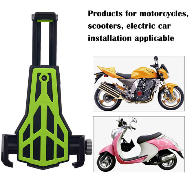 Carbon Fiber Phone Holder Mounted on Rear view mirror of Bicycle and Motorcycle