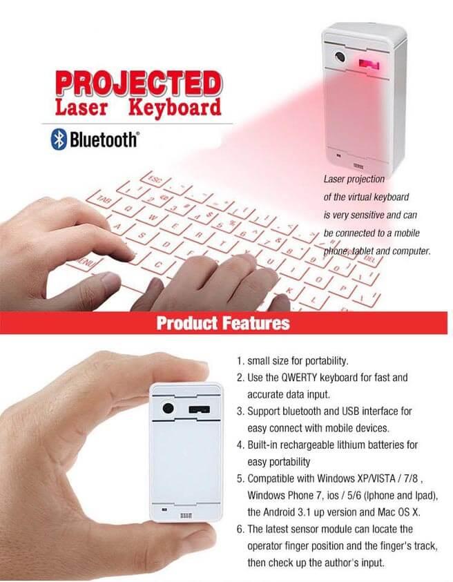 Latest Laser projection virtual keyboard wireless virtual laser keyboard