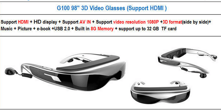 3D video glasses